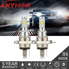 H4/9003 100W 8000LM 6000K LED Conversion CSP Headlight Bulb Kit High/Low Beam 2x