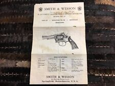 Smith /& Wesson Model 60 Chief Special Revolver Use /& Maintenance Manual Parts