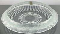 "LALIQUE CRYSTAL MARGUERITES DAISIES BOWL 14.25"" DIAMETER EXCELLENT CONDITION"
