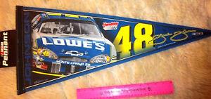 NASCAR Jimmy Johnson 30 x 12 Felt Pennant, car number 48, 2007, Lowes
