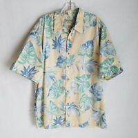 Cooke Street Honolulu Mens Button Front Short Sleeve Hawaiian Shirt Size XL I313
