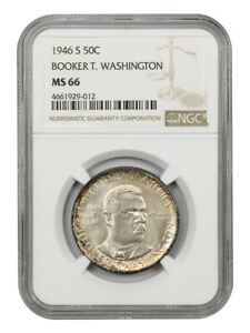 1946-S BTW 50c NGC MS66 - Silver Classic Commemorative