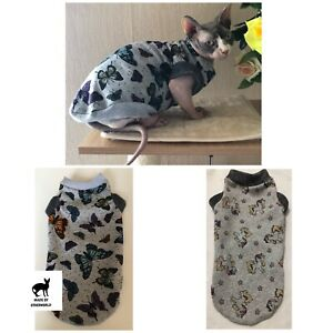 Clothes for Sphynx cat, Devon Rex. Warm Jumper for Cat. Winter Clothes For Cat