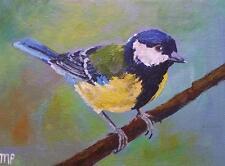 Original pintura impresionista por Melanie Reynoso Parker: el carbonero común