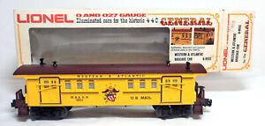 Lionel 6-9551 General Illuminated Western & Atlantic Baggage/Mail Car ~ O/O27
