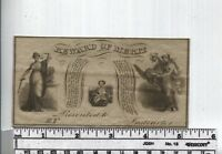 Antique Reward of Merit - Banknote Type - 3 Currency Type Vignettes