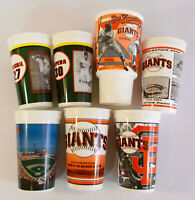 1997-2002 San Francisco Giants SOUVENIR CUP COLLECTION x7 Lot Willie Mays Cepeda