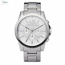 Armani Exchange Silver Stainless Steel Bracelet AX2058 Mens Dress Watch RRP £179