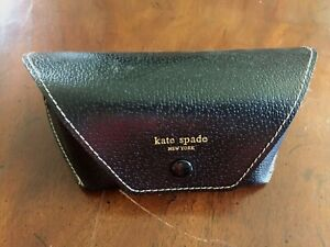 Kate Spade New York Black Faux Leather Glasses Case sunglasses