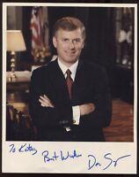 Dan Quayle Signed 8x10 Photo Signature Autographed Vintage Vice President