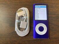 Apple iPod nano 4th Generation Purple (8 GB) Bundle