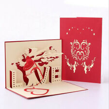 3D Pop Up Cards Valentines Gift Lover Happy Birthday Anniversary Greeting Card