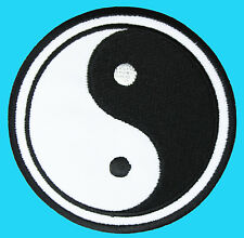 YIN YING YANG White & Black Symbol Tao Tai Chi Embroidered Iron On Patch Karate