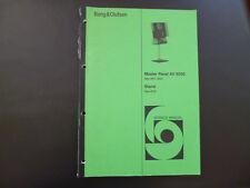 Original Service Manual Bang & Olufsen Master Panel AV 9000