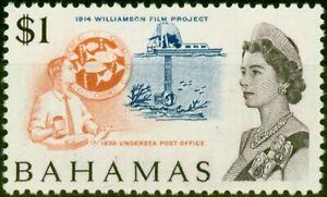 Bahamas 1971 $1 White Paper SG307a Very Fine MNH