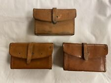WWII Browning Automatic Rifle Leather Tool/Parts Pouch -BAR, Ammo LOT OF 3