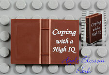 NEW Lego Minifig Brown COPING WITH A HIGH IQ BOOK - Elf Friends 2x3 Diary Story