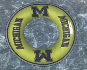 """Michigan Wolverines Pool Float Swim Inflatable Ring Licensed 36"""" Round"""