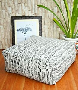 Beanbag Square Moroccan Rug Ottoman Pouffe Pouf Footstool Table Sofa cover Large