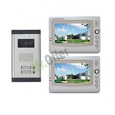 Videocitofono bifamiliare con telecamera led 2 monitor 7'' videocitofoni colori