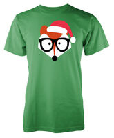 Santa Fox Christmas Xmas Adult T Shirt
