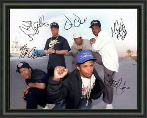 NWA - RAP - DR DRE - EASY E - ICE CUBE - A4 SIGNED PHOTO POSTER - FREE POSTAGE