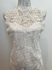 """WISTERIA by DIANE SAMANDI Neiman-Marcus  """"BRIDAL""""  Ivory lingerie top size  M A7"""