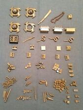 LEGO Lot over 110 pieces in GOLD,  Faucet Chest Window Dots as Pictured (Lot B)