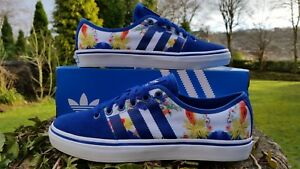 Adidas Originals Girls Adria Low Trainers Shoes Sneaker Floral Blue UK 3.5