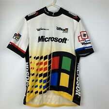 VTG Sugoi Microsoft Windows 2000 All Over Print Cycling Jersey Size 2XL