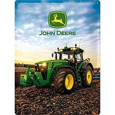John Deere 8370R embossed metal sign 400mm x 300mm (na)