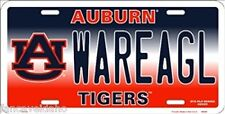 NCAA University of Auburn WAREAGL Tigers Metal Car License Plate Sign