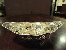 Solid Silver Adam Style Boat Shaped Dish Sheffield 1899