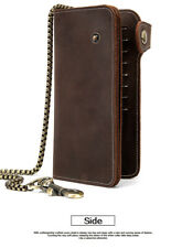 Men Bags Genuine Leather Padfolio Business Portfolio Holder With Zippered Card