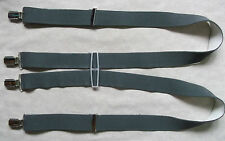 VINTAGE GREY 3.5CM SKINHEAD SKA CLIP ON BRACES 1970'S 1980'S ONE SIZE MENS RETRO