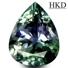 2.63 ct HKD Certified Pear Shape (10 x 7 mm) Bluish Violet Tanzanite AA+