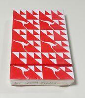 Brand New/ Sealed Deck of Qantas Airline Kangaroo Logo Playing Cards ~ Red
