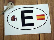 """E España España Escudo De Armas Y Bandera Id Placa Auto Adhesivo 6 """"van Clásico Español"""