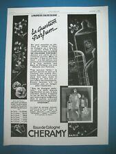 MINI CALENDRIER  PLIANT *JOLI SOIR PARFUMS CHERAMY PARIS 1963*