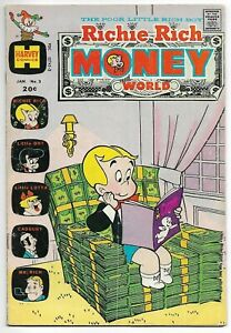 Richie Rich Money World #3 (Harvey, 1973) – Richie Reading Casper Cover – VG+
