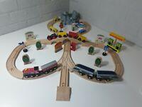 Large Wooden Train Set Bundle fits Brio / ELC Thomas bigjigs 50+ pieces