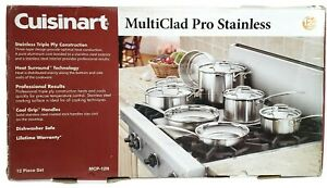 Cuisinart MultiClad Pro Stainless Steel 12 Piece Cookware Set MCP-12N