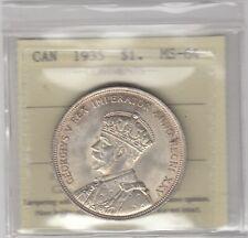 1935 Canada Silver Dollar - ICCS MS-64 Cert#XDU861