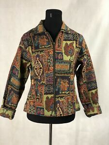 Parsley And Sage Zip Jacket Coat Art To Wear Multi M Tapestry