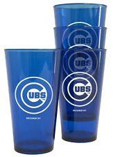 Chicago Cubs Plastic Pint Glass - Set of 4 [NEW] MLB Cup Mug Bar
