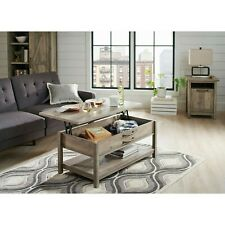 Better Homes & Gardens Modern Farmhouse Lift-Top Coffee Table, Rustic Gray Finis