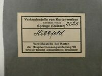 2625 Hittfeld 1:25.000 Landkarte Meßtischblatt Topographische Karte 1942 E747