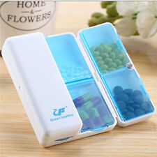 Foldable Mini Pill Box Container Drug Tablet Storage Travel Case Holder 7 days