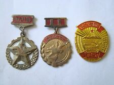 Korea communist Lot 2 medals , medal + 1 Badge, order - ?