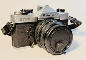 Fujifilm Fujica STX-1 w/ 50mm Lens & Cap SLR Camera. Excellent Condition Tested